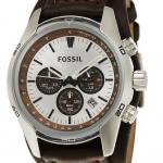 Fossil Herren-Armbanduhr Sport Chronograph Leder