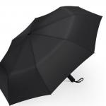 Klassischer schwarzer PLEMO Regenschirm