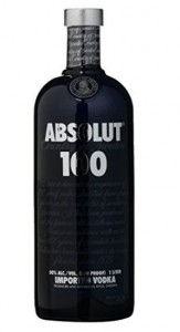 Absolut 100 Black Imported Wodka